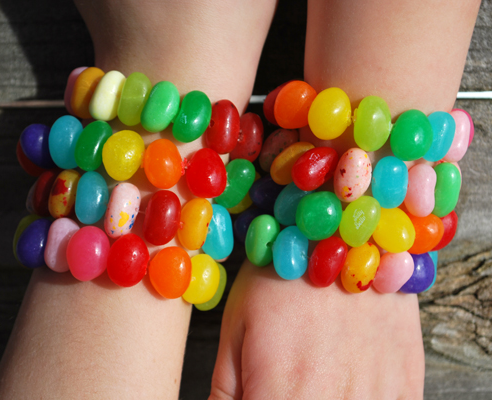 DIY Jelly Bean Bracelets