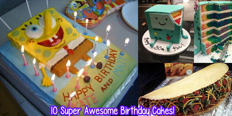 10 Super Awesome Birthday Cakes YAYOMG