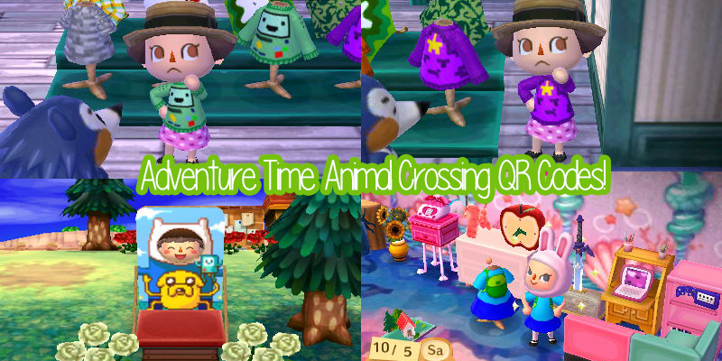 Adventure Time Animal Crossing QR Codes