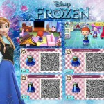 Animal Crossing Frozen Anna QR Code
