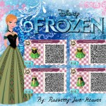 Animal Crossing Frozen Anna Green Dress QR Code