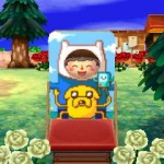 Finn and Jake Standee Animal Crossing QR Code