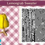Lemongrab Sweater Animal Crossing QR Code