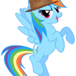 Rainbow Dash Wearing Pharrell's Hat