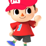 Animal Crossing Villager Wearing a Mario Hat