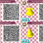 Belle Ballgown Animal Crossing QR Code