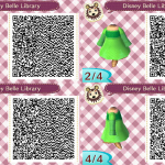 Belle Library Dress Animal Crossing QR Code
