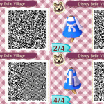 Belle Villager Dress Animal Crossing QR Code