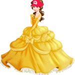 Belle Wearing a Mario Hat