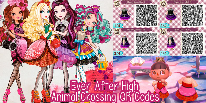 Ever After High Animal Crossing QR Codes