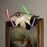Flying Squirrel With A Lightsabers