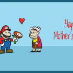 Geeky Mother's Day Card - Mario and Luigi