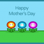 Geeky Mother's Day Card - Mario Flowers