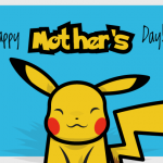 Geeky Mother's Day Card - Pikachu