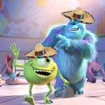 Mike and Sulley Wearing Sombreros