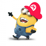 Minion Wearing a Mario Hat