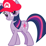 Twilight Sparkle Wearing a Mario Hat