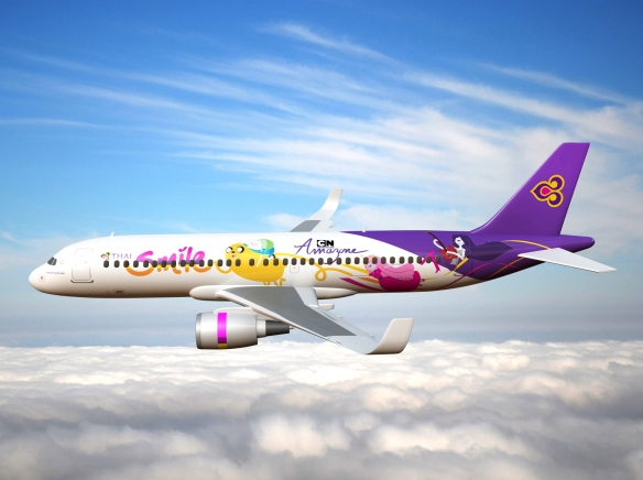Adventure Time Airplane - Thai Smile Airlines