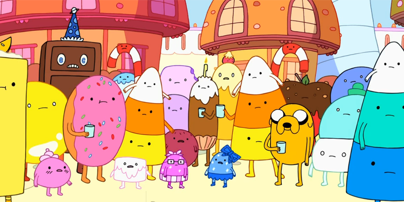 Candy Kingdom Inhabitants - Adventure Time - National Candy Month