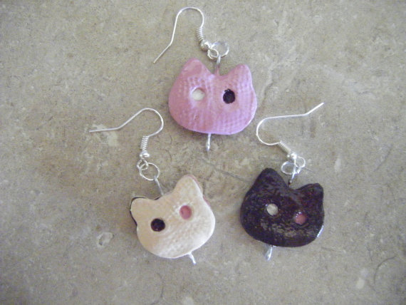 Cookie Cat Earrings
