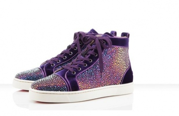 Metallic Purple Sneakers