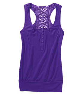 Purple Crochet Tank