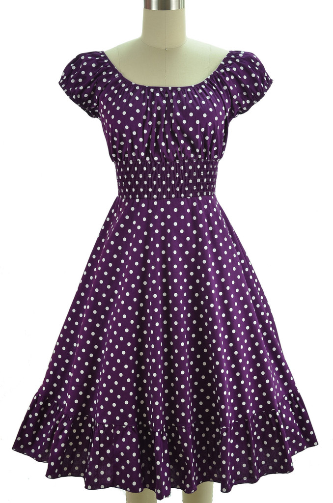 Purple Polkadot Dress