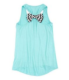 Teal Bow Tank