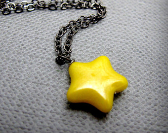 Yellow Star Necklace