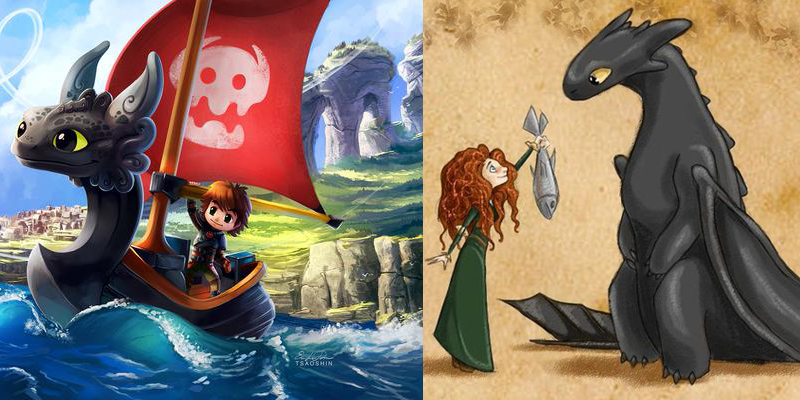9 amazing how to train your dragon mashups yayomg how to train your dragon mashups httyd dragons race to the edge ccuart Image collections