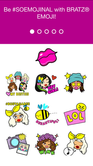 Bratz Emoji Keyboard - It's Good to Be a Bratz