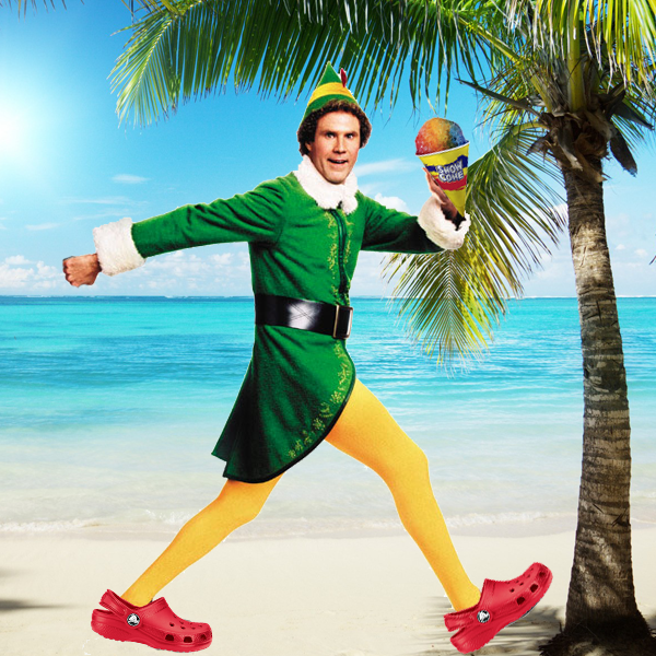 Buddy the Elf With a Snowcone - Christmas in July