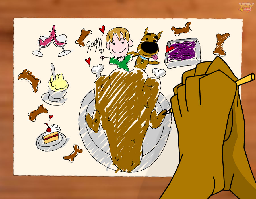 Hand Turkeys Drawn By Cartoon Characters - Scooby Doo