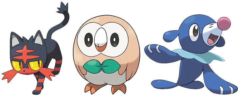 Pokémon Sun and Moon Starters