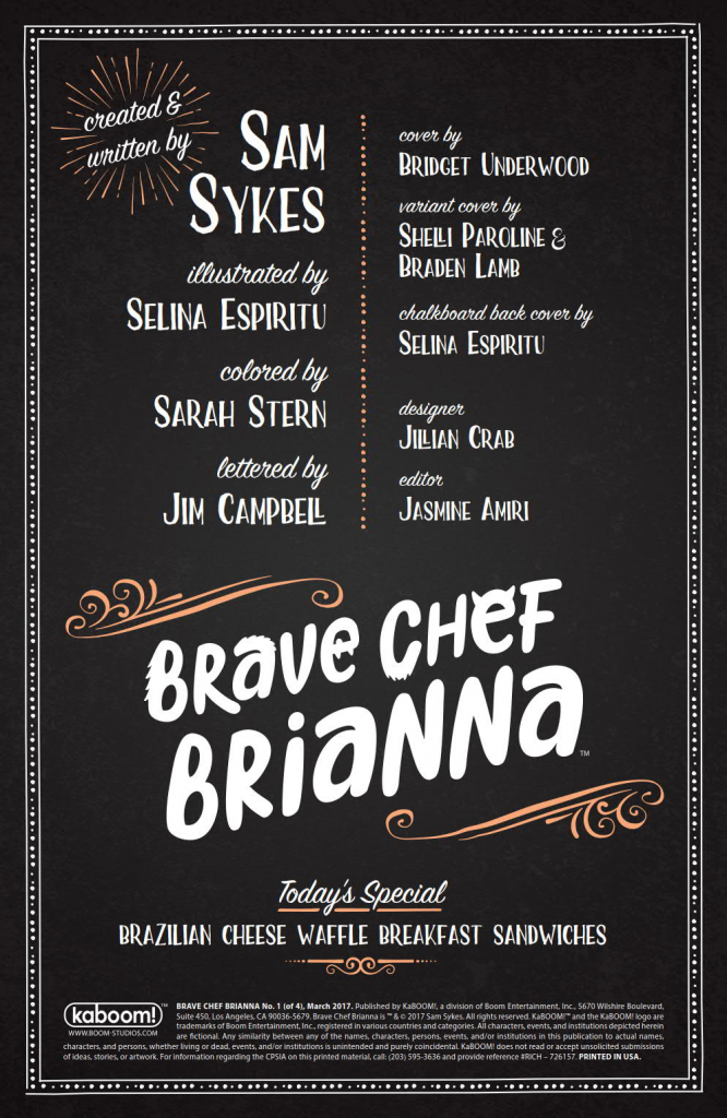 Brave Chef Brianna - Interview with Sam Sykes and Selina Espiritu