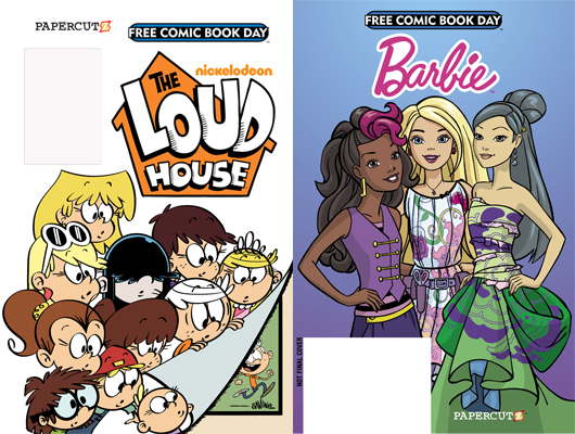 Free Comic Book Day 2017 - The Loud House/Barbie - Papercutz