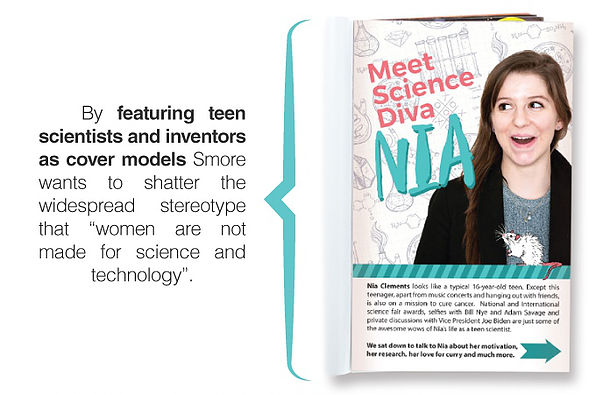 Smore is an inspiring new magazine for girls who love science my favorite feature has to be the teen science divas section and our science like a girl section where we talk to established successful women in science sciox Gallery