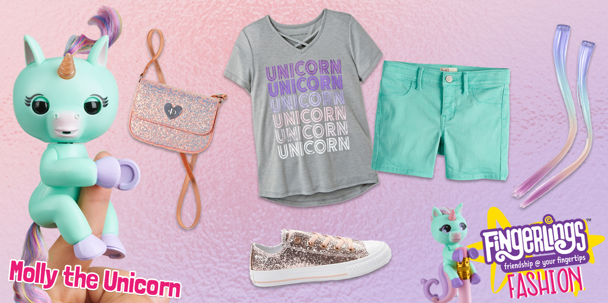Fingerlings Fashion: Molly the Unicorn Lookbook + GIVEAWAY