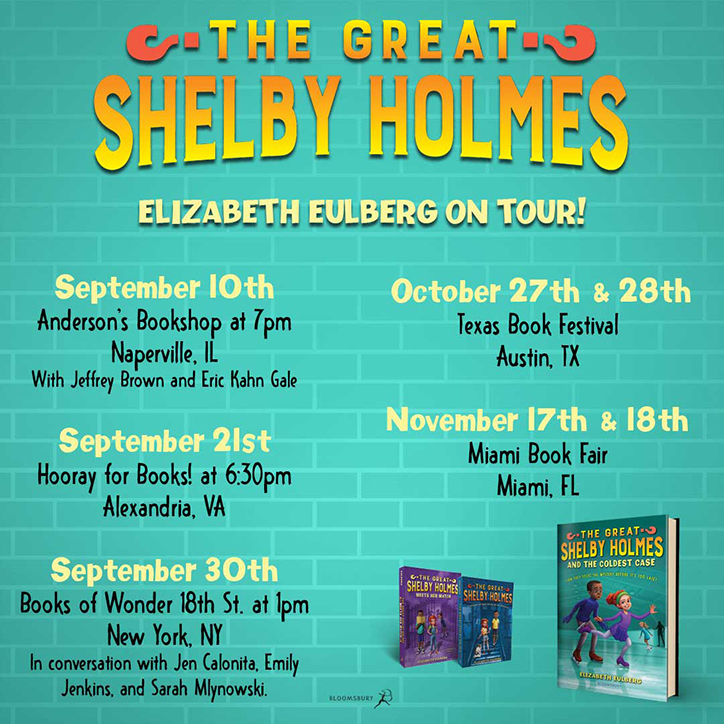 Shelby Holmes and the Coldest Case Fun Facts with Author Elizabeth Eulberg
