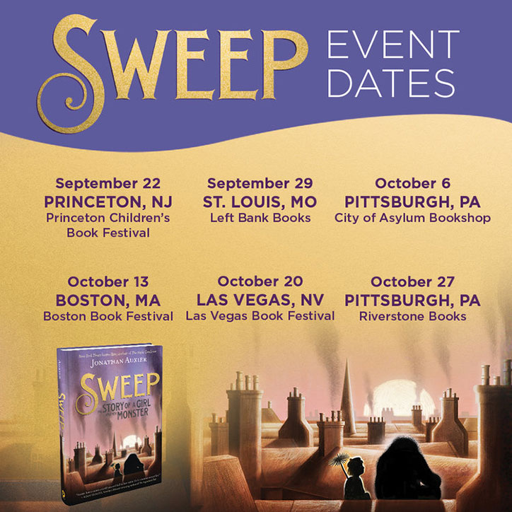 10 Fun Facts About Sweep: The Story of a Girl and Her Monster with Author Jonathan Auxier