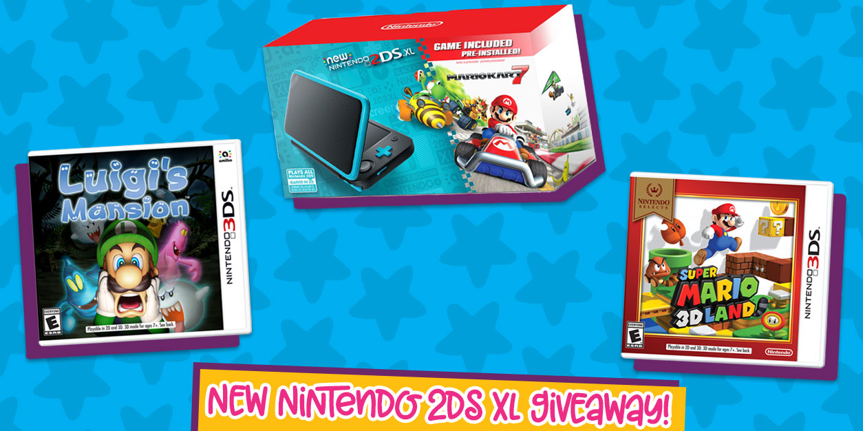 New Nintendo 2DS XL Prize Pack Giveaway