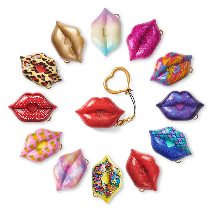 S.W.A.K. (Sealed With a Kiss) Kissable Keychains
