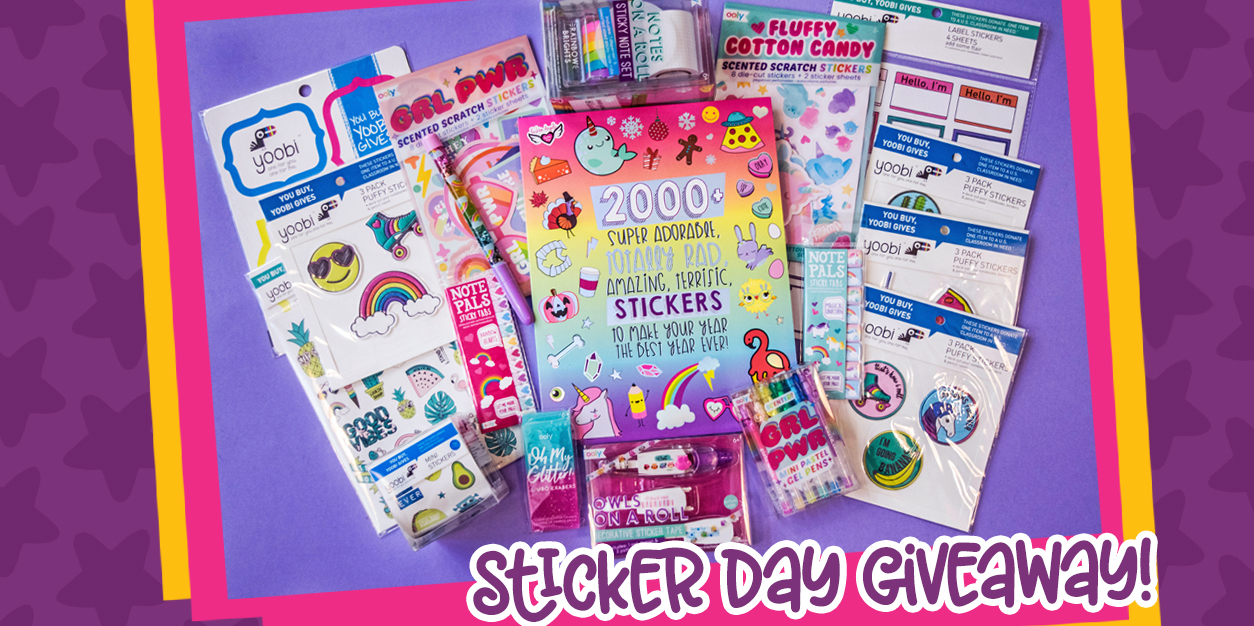 Sticker Day Giveaway