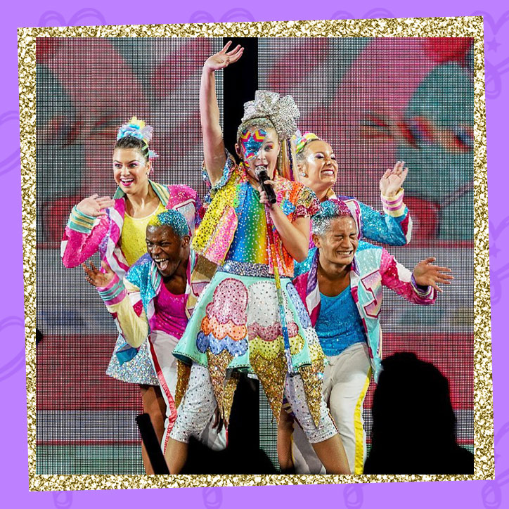 JoJo Siwa performing on stage during her D.R.E.A.M. Tour