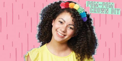 Celebrate Your Inner Queen with this Simple Pom-Pom Crown DIY