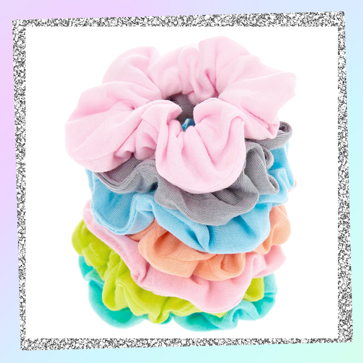Pastel rainbow scrunchies