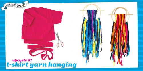Upcycle Your Way to a Cute Room with This T-Shirt Yarn Wall Hanging DIY
