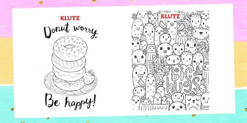 Let Your Creativity Flow With These Adorable Klutz Coloring Pages