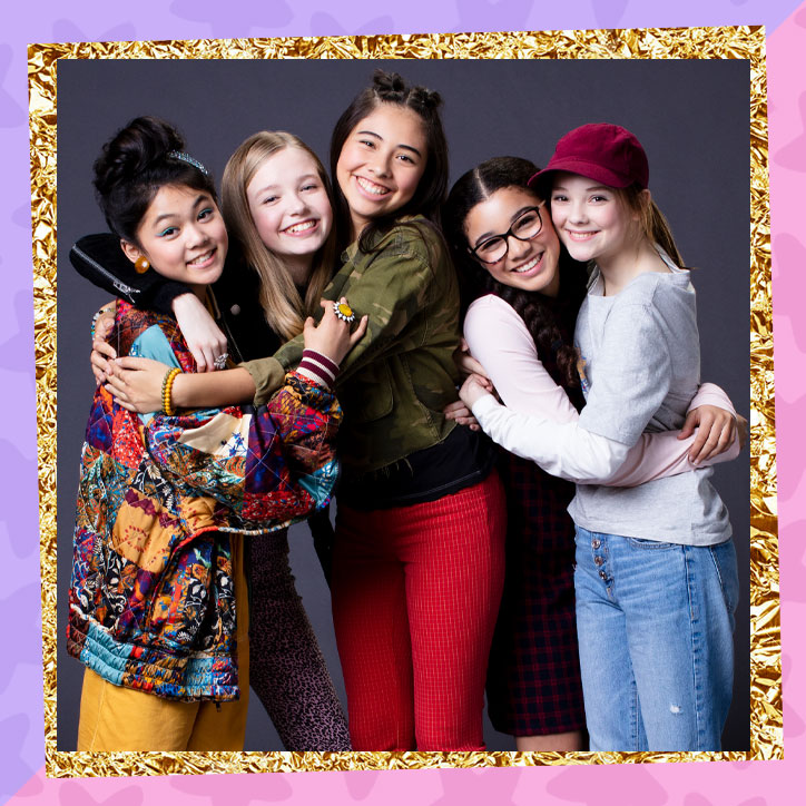 Group shot of the cast of The Baby-Sitters Club series on Netflix