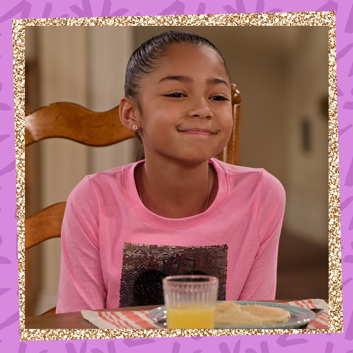 Jordan Raya James in character as Ami from Family Reunion